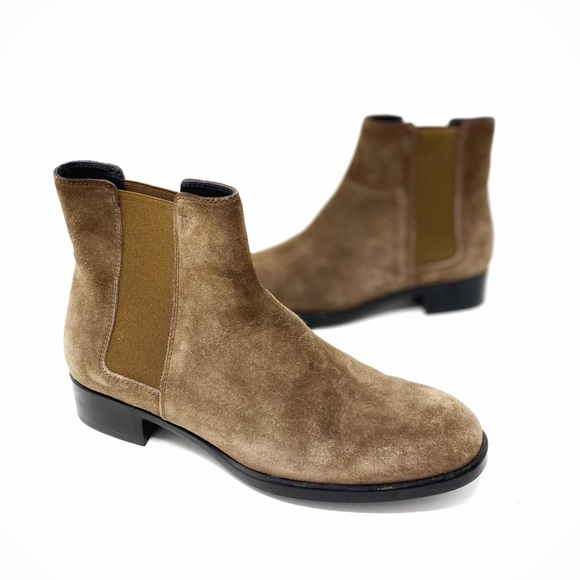 Tods Brown Suede Chelsea Ankle Boots size 37